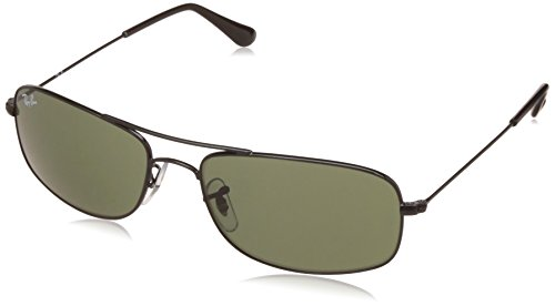 Ray-Ban UV protected Oversized Men's Sunglasses (0RB3335I|57 millimeters|Crystal Green)
