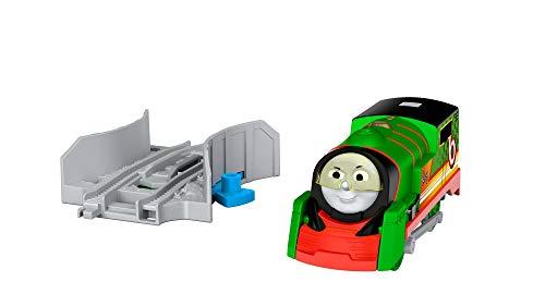 Thomas & Friends- Trenino Trackmaster Turbo velocità Percy, Treno a Ruota Libera con Lanciatore, Giocattolo 3+ Anni, FPW70