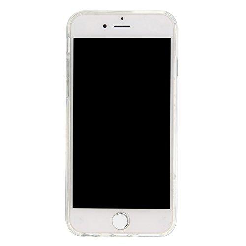 Pheant® Apple iPhone 6 Plus/6S Plus (5.5 pouces) Coque Gel Brillante Étui de Protection Cas Transparent en TPU Silicone Liquide Bling Gratuit Paillettes Sables Mouvants Phone Case Cover Feuille d'or