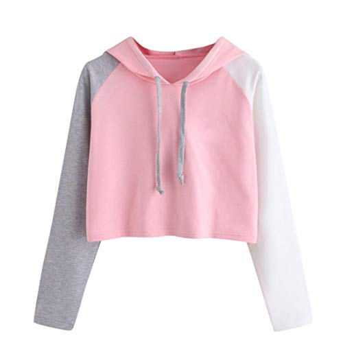 Damen Sweatshirt Tops SUNNSEAN Frauen Lässige Splicing Farbe Langarm Hoodies Stilvolle Pullover...