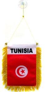 AZ FLAG Fanion Tunisie 15x10cm - Mini Drapeau Tunisien 10 x 15 cm spécial Voiture - Bannière