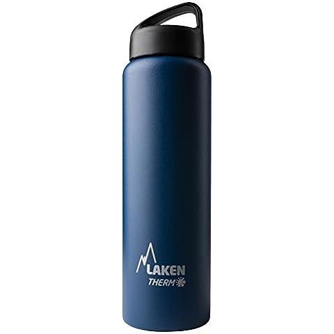 Botella térmica Classic de Laken en acero inoxidable con aislamiento al vacío y boca ancha 1L
