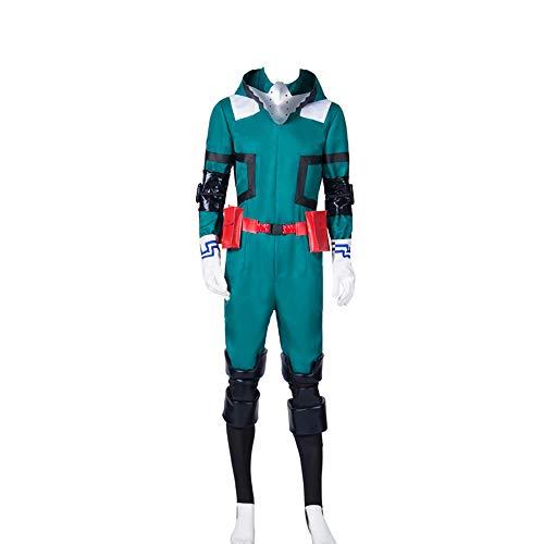 Vokaer Herrenanzug für My Hero Academia Akademia Izuku Midoriya Cosplay Kostüm Deku Kampfoutfit,Costume,L (Erza Cosplay Kostüm)