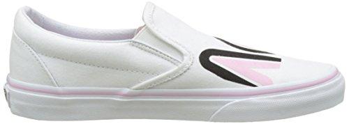 Vans Ua Classic Slip-On, Baskets Basses Femme Blanc (Sayings)