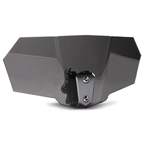 Tourtecs Deflettore Vario per parabrezza Honda Transalp XL 600/ 650/ 700 V, Varadero 125/ XL 1000 V, VFR 800/ 1200 F, Integra fumè scuro