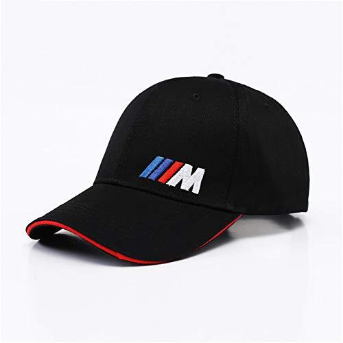 SUNNYBQM Baseballmütze Leistung Baseballmütze des Mann-Art- Und Weisebaumwollauto-Firmenzeichens M Für BMW M3 M5 3 5 7 X1 X3 X4 X5 X6 330I Z4 Gt 760