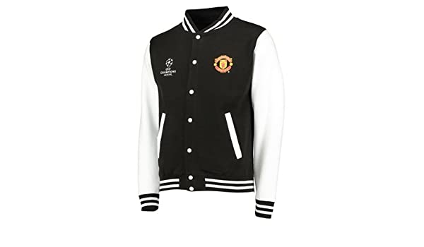 newest 4c352 5188a Manchester United UEFA Champions League Varsity Jacket ...