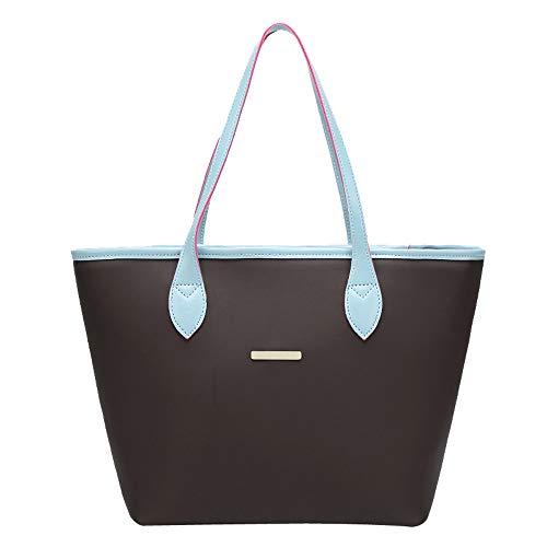 Feixiang borsa borse a spalla tracolla a colori a mano con cerniera in pelle per donna borsa a mano borse a tracolla borse tote