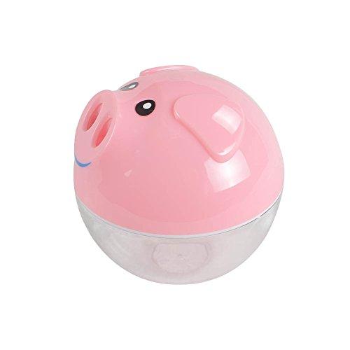 Qingsun Mini Humidificador USB Portátil Agua Diseño de Cerdito Aroma Aire Difudor Mist Maker (Rosa)