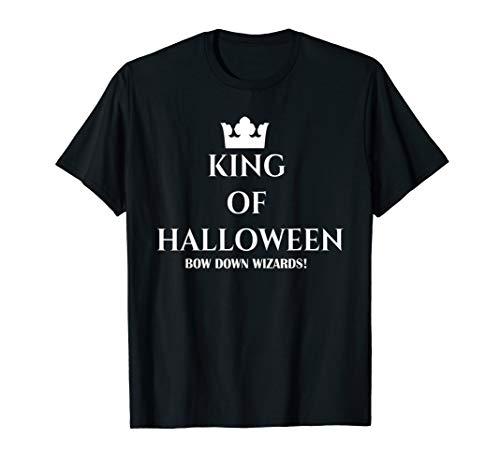 Herren Lustige Bow Down Zauberer Paare wirklich beängstigend  T-Shirt (Paare Kostüm Beängstigend)