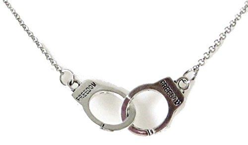 Collana girocollo con manette dark gothic lacrima punk grey handcuffs necklace halloween