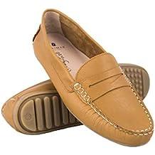 Zerimar Mocasines Mujer de Piel | Loafer Mujer | Mocasines Castellanos | Mocasin Mujer | Mocasin