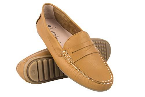 Zerimar mocassini donna in pelle | scarpe donna mocassino | mocassino elegante donna | mocassini confort donna | scarpe confortevoli