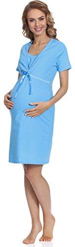 Italian Fashion Femmes Chemise de nuit d'allaitemen Chemise de Nuit Vêtements de maternité - différentes couleurs - MADE IN EU Marine