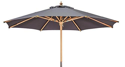 Kai Wiechmann Premium Sonnenschirm Sunshine ø 300 cm, anthrazit grau, UV-Schutz 50+