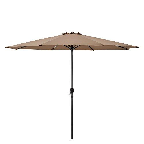 [casa.pro]®] Parasol de Jardin Polyester Acier Revêtu par Poudre Beige 300cm x 230cm