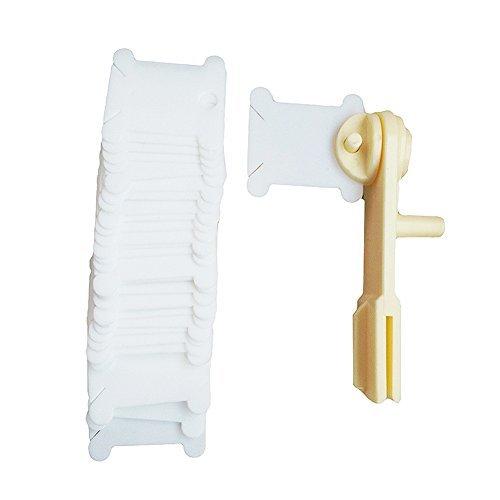 D & D Gänseblumen-Kunststoff Floss Spulen mit Sticktwist Floss Winder für Organizer Kreuzstich Gewinde Halterung -