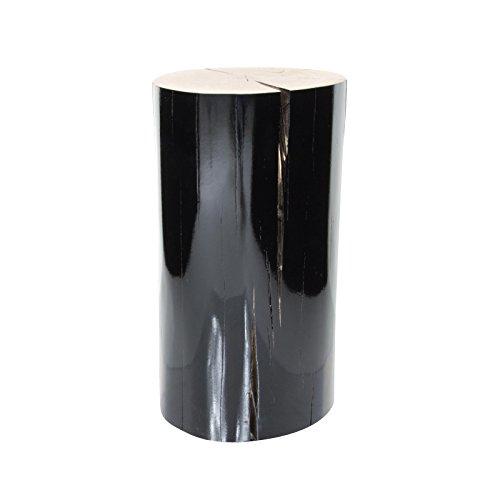 Gervasoni Log - Table d'appoint, Bois parois laquées Noir Brillant ca. Ø18-22cm, H42cm