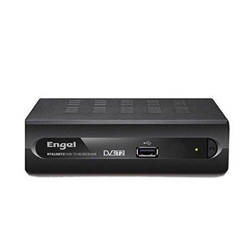 Engel Axil RT6100T2 - Sintonizador TDT de alta definición (DVB-T2, SCART+PVR), color negro