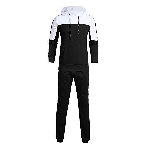 MAYOGO Hoodie & Hosen Set, Hoodie Herren Farbe spleißen Set,2018 Mode Kapuzen Sweatshirts Set,Jogging Sport Kapuzenpullover Suit M-XXXL -
