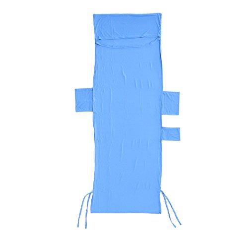 BESTOMZ Liegestuhl Auflage Gartenliege Schonbezug Frottee Liegenbezug Strandtuch mit Seitentaschen (Blau)