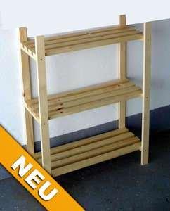 !!!Aktion!!! Holzregal, Bücherregal Fichte natur 75cm breit/99cm hoch/30cm tief 3 Böden
