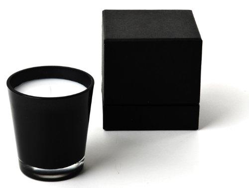 IVARY Duftkerze (groß) im schwarzen Glas Durchmesser 9 x Höhe 10 cm im hochwertigen Geschenkkarton Duft Bamboo Forest