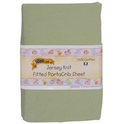 Kids Line Jersey Knit Fitted Porta Crib Sheet - Sage by kids line, porta crib