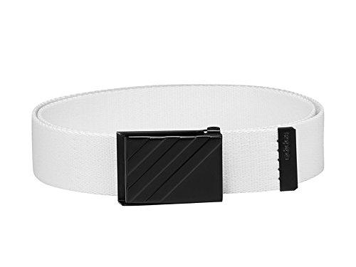 Adidas Golf 2018 Mens 3 Stripe Webbing Belt White One Size