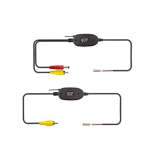 MiCarBa 2.4G Sans Fil Émetteur Vidéo Couleur et Kit Récepteur pour Voiture Vue Arrière Caméra de Recul Inverse Caméra Dash CAM Avant Voiture Caméra (CL2.4G)
