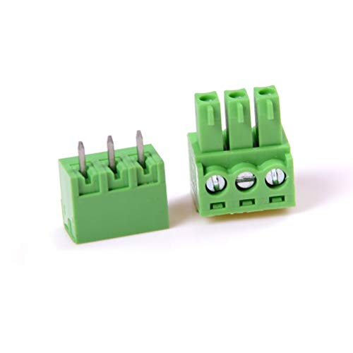 Terminals - 2019 3pin 3.81mm 10 Pcs Right Angle Terminal Plug In Type Pitch Connector Pcb Screw Block - 4pin Connector Fuse 5 Terminal Terminal Plug Connector Plug To Roast Red Wire Kitchen E 250v Fuse Block