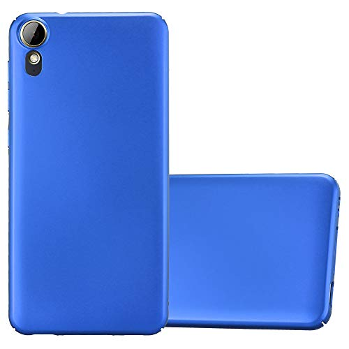 Cadorabo Hülle für HTC Desire 10 Lifestyle/Desire 825 - Hülle in Metall BLAU - Hardcase Handyhülle im Matt Metal Design - Schutzhülle Bumper Back Case Cover