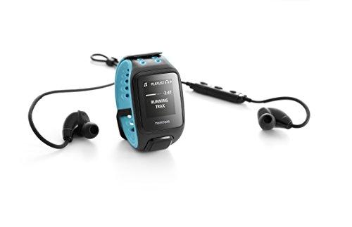 TomTom Runner2 Cardio - Reloj deportivo con música y auriculares, color azul / turquesa, talla grande