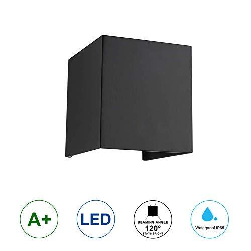 K-Bright 12W Lampe murale noir avec design d'angle de faisceau étanche IP 65,Blanc froid