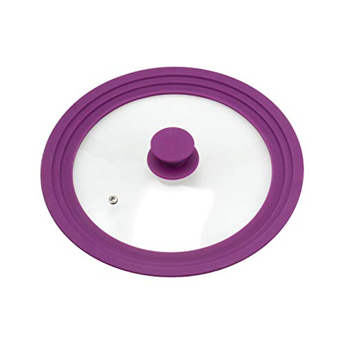 bremermann® Universal-Glasdeckel mit Silikonrand, 24/26/28 cm, mittel (Lila)