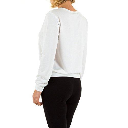 Elastisches Sweatshirt Für Damen bei Ital-Design Weiß
