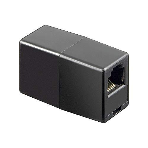 Wentronic Telefon Adapter (RJ12-Kupplung, RJ12 Buchse auf RJ12 Buchse) schwarz - Rj12-buchse