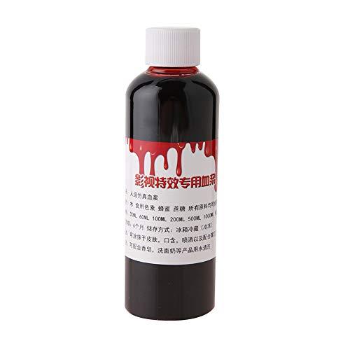 Gefälschte Blut, professionelle realistische Halloween Wunde Narben Prellungen Zombie Vampire Fancy Gesicht Körperbemalung Öl Kostüm Make-up Blut(Rot, 100ml)