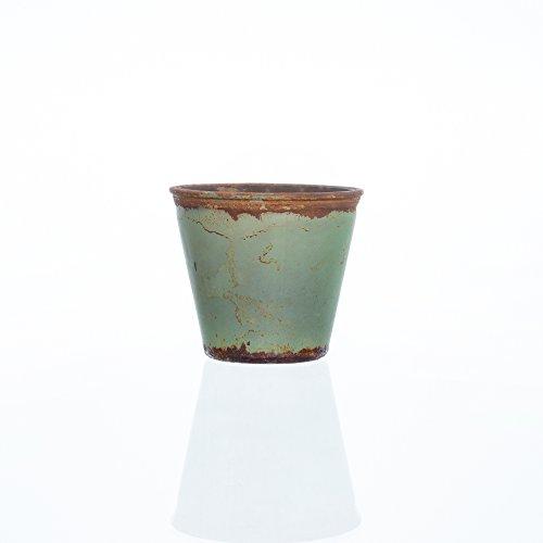 Glasblumentopf VINTAGE grün 8 cm Ø 9 cm von Sandra Rich - Vintage Vintage 8