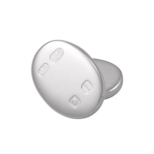 Boutons de Manchette Ovales Poinçonnés en Argent 925/1000 - A Chaînette
