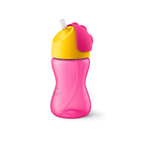 /02 Strohhalmbecher, 300 ml, pink/orange ()
