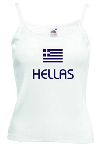 Hellas / Griechenland Damen T-Shirt Spaghettiträger WM 2014|w-m