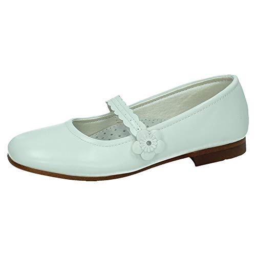 DEB&DAN A1561L COMUNIÓN Flor NIÑA Zapato COMUNIÓN Blanco 34