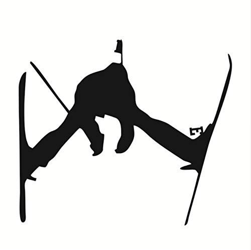 Finloveg Kinder Lieblings Sport Silhouette Skisprung Wandaufkleber Pvc Wohnkultur Für Sofa Hintergrund Wandtattoos Snowboard Skifahren Dekor 38X44 Cm
