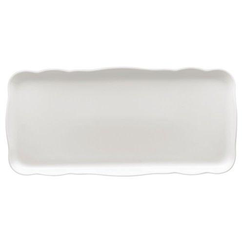 Hutschenreuther Hutschreuter 02013-800001-12844 Plat à Cake Rectangulaire Porcelaine Blanc 40,3 x 18,8 x 3,8 cm