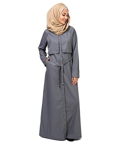 Pewter Trench Abaya EXTRA LOOSE 54