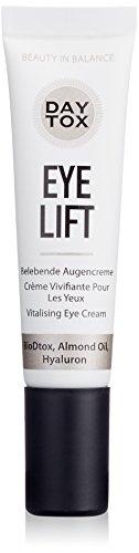 DAYTOX - Eye Lift - Belebende Augencreme mit Hyaluron - Vegan, ohne Farbstoffe, silikonfrei und parabenfrei - 1 x 15 ml