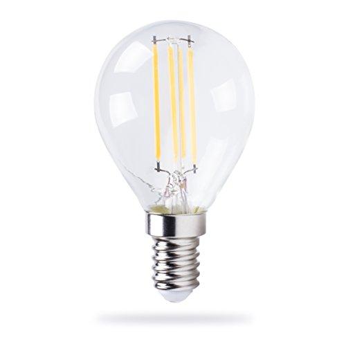 XQ-lite LED-Glühbirne mit Dimmfunktion, 345 Lumen Glas E14, 4 W, Transparent 4,5 x 4,5 x 7,7 cm