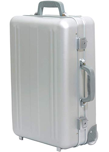 Trolley Koffer Handgepäck Aluminium mit Rollen Kurzreisetrolley Boardtrolley Businesstrolley 50 x 35 x 20 cm