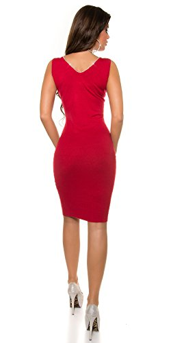 In-Stylefashion - Robe - Femme rouge Rot taille unique Rouge